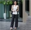 ชุดเซ็ทเสื้อลูกไม้สีขาว + กางเกงขายาวสีดำ ดีไซน์เก๋ๆ ทรงสวยมากๆ