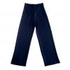 กางเกงขายาวสีกรมท่า ทรงกระบอก ผ้าฮานาโกะ เอวสูง แมทช์กับเสื้อแบบไหนก็สวย ใส่ทำงาน ใส่เที่ยว ใส่ออกงาน