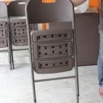 เก้าอี้เดี่ยวพับได้ มีพนักพิง ลายหวาย KOMMET HDPE รุ่น HDC-001L