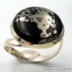 ไพไรต์-แมกนีไทต์ PYRITE-MAGNETITE (HEALER'S GOLD)- แหวนเงินแท้ 925(SIZE 57, 6.1g)