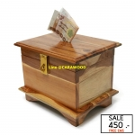 กล่องออมสินโบราณ สีเคลือบใส