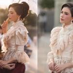 นางเอกสาวศรีริต้า เจนเซ่น สวยไม่เกรงใจใคร แต่งชุดไทยในงานอุ่นไอรัก