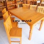 โต๊ะชุด รับแขก โต๊ะอาหาร พร้อมเก้าอี้ 6 ตัว