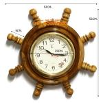 นาฬิกาพวงมาลัยเรือไม้สักทอง 14 นิ้ว