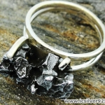 Campo Del Cielo Meteorite แหวนเงินแท้ 925 (แหวนเบอร์ : 59 ,7.8g)
