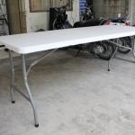 โต๊ะอเนกประสงค์พับได้ สีขาว KOMMET HDPE รุ่น HDT-180W