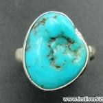 ทอร์ควอยซ์ Turquoise แหวนเงินแท้ 925 (แหวนเบอร์ : 53)