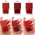 พร้อมส่ง 3CE Red Recipe Long Lasting Nail Lacquer ยาทาเล็บ โทนสีแดง สวยหรูดูแพงสุดๆ แซ่บเวอร์!! สีแซ่บมาก สีขับผิวมือสว่างออร่าสุดๆ