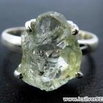 Prasiolite and Green Amethyst - แหวนเงินแท้ 925 (แหวนเบอร์ : 59)