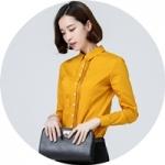 เสื้อเชิ้ตผู้หญิงสีเหลือง