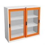 ตู้บานเลื่อนกระจก 4 ฟุต CSLG-04