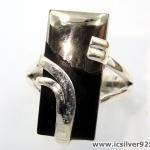 ไพไรต์-แมกนีไทต์ PYRITE-MAGNETITE (HEALER'S GOLD)- แหวนเงินแท้ 925(SIZE 56, 5.1g)