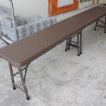 เก้าอี้ยาวเอนกประสงค์พับได้ ลายหวาย KOMMET HDPE รุ่น HDC-180L