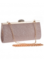 กระเป๋าคลัทช์ออกงานสีทอง ทรงยาว ถือออกงาน ไปงานแต่งงาน ลุคเรียบๆ สวยเก๋