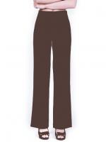 กางเกงขายาวสีน้ำตาลอ่อน ทรงกระบอก ผ้าฮานาโกะ เอวสูง แมทช์กับเสื้อแบบไหนก็สวย ใส่ทำงาน ใส่เที่ยว ใส่ออกงาน