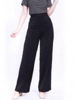 กางเกงขายาวสีดำ ทรงกระบอก ผ้าฮานาโกะ เอวสูง แมทช์กับเสื้อแบบไหนก็สวย ใส่ทำงาน ใส่เที่ยว ใส่ออกงาน