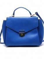 กระเป๋าถือ/สะพายข้างสีน้ำเงิน ทรงสี่เหลี่ยม
