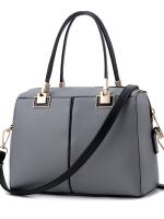 กระเป๋าถือ/สะพายข้างสีเทา ทรงหมอน