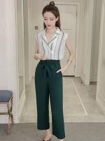 ชุดเซ็ทเสื้อ-กางเกงขายาวสีเขียว สไตล์สวย เท่ ดูดี