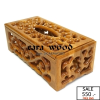 กล่องทิชชู่ไม้สักทอง