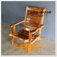 เก้าอี้ลูกระนาดไม้สักทอง