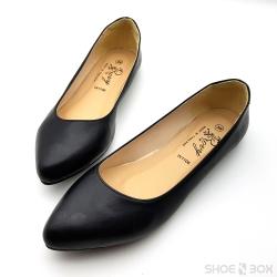 รองเท้าคัชชูส้นแบนRovy [W1106] - Black