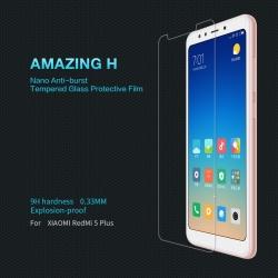 กระจกนิรภัย NILLKIN 9H Xiaomi Redmi 5 Plus แถมฟิล์มป้องกันเลนส์กล้อง
