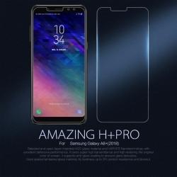กระจกนิรภัย NILLKIN 9H+ PRO Galaxy A8+ / A8 Plus 2018 แถมฟิล์มติดด้านหลัง