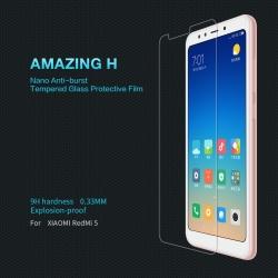 กระจกนิรภัย NILLKIN 9H Xiaomi Redmi 5 แถมฟิล์มป้องกันเลนส์กล้อง