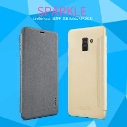 เคสฝาพับ NILLKIN Sparkle Leather Case Galaxy A8+ / A8 Plus 2018