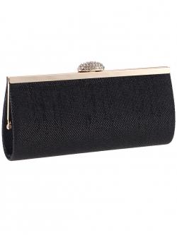 กระเป๋าคลัทช์ออกงานสีดำ ทรงยาว ถือออกงาน ไปงานแต่งงาน ลุคเรียบๆ สวยเก๋