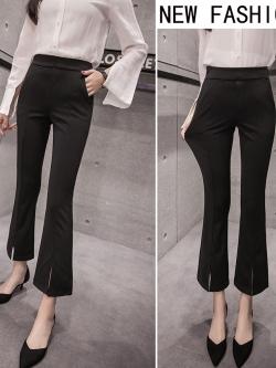 กางเกงขายาวสีดำ ทรงกระบอกเล็ก ทรงเรียบๆ สวยดูดี ใส่ทำงาน ใส่เที่ยวได้