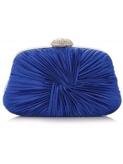 กระเป๋าออกงานทรงสีเหลี่ยมคางหมู สีน้ำเงิน
