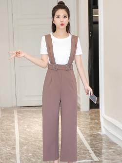 ชุดเฮี้ยมกางเกงขายาวสี่ส่วนสีน้ำตาลอ่อน น่ารักใสๆ ใส่เมื่อไหร่ก็คิวท์