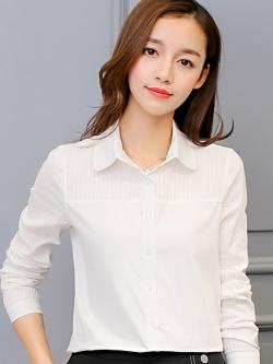 เสื้อเชิ้ตทำงานสีขาว แขนยาว