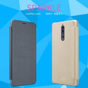 เคสฝาพับ NILLKIN Sparkle Leather Case Nokia 8