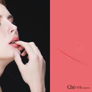 ลิปสติกโช (Cho) #03 Charming - สีชมพูอมแดง ใช้ได้ทุกวัน ทุกสีผิว