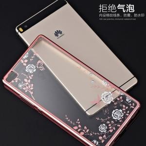 เคสใส TPU ลายดอกไม้ Huawei P8