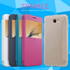 เคสฝาพับ NILLKIN Sparkle Leather Case Galaxy J7 Prime