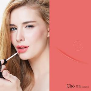 ลิปสติกโช (Cho) #02 Dazzling - สีชมพูพีช ดูสดใสใช้ได้ทุกวัน