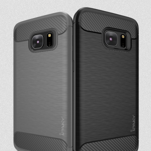 เคสกันกระแทก iPAKY LAKO Series Brushed Silicone Galaxy S7