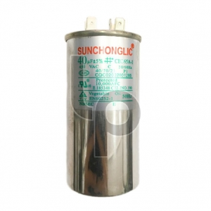 คาปาซิเตอร์แอร์ 40 uF 450VAC ยี่ห้อ Sunchonglic