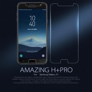 กระจกนิรภัย NILLKIN 9H+ PRO Galaxy J7+ / J7 Plus แถมฟิล์มติดเลนส์กล้อง
