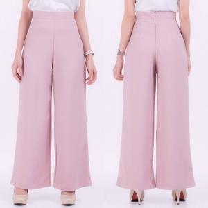 กางเกงขายาวสีชมพูกะปิ