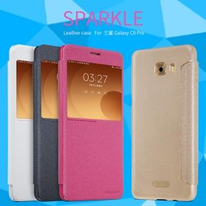 เคสฝาพับ NILLKIN Sparkle Leather Case Galaxy C9 Pro