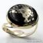 ไพไรต์-แมกนีไทต์ PYRITE-MAGNETITE (HEALER'S GOLD)- แหวนเงินแท้ 925(SIZE 57, 6.1g) thumbnail 1