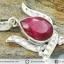 ทับทิมอินเดีย Indian Ruby- จี้เงินแท้ 925 (3.7g) thumbnail 3