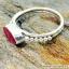 ทับทิม Indian Ruby- แหวนเงินแท้ 925 (แหวนเบอร์ : 52 ,2.4g) thumbnail 3