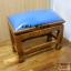 โต๊ะกราบ ไม้สักทองไซส์ใหญ่ [สีน้ำเงิน] thumbnail 8