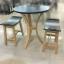 ชุดโต๊ะอาหารไม้ยาง 2 ที่นั่ง ราวไซด์ thumbnail 1